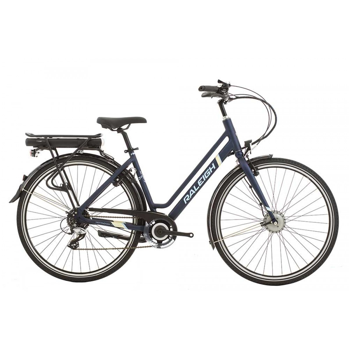 raleigh array low step electric bike navy. Black Bedroom Furniture Sets. Home Design Ideas