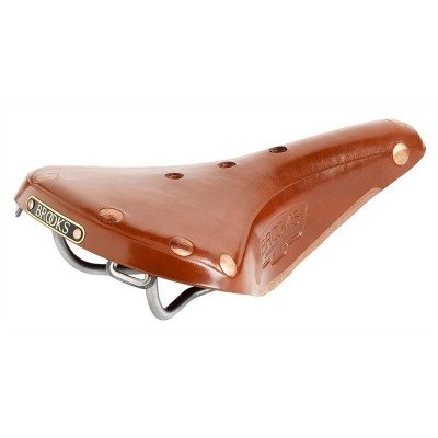 Brooks B17 Titanium Men's Saddle  - Honey - w/FREE Maintenance kit (worth £10!)