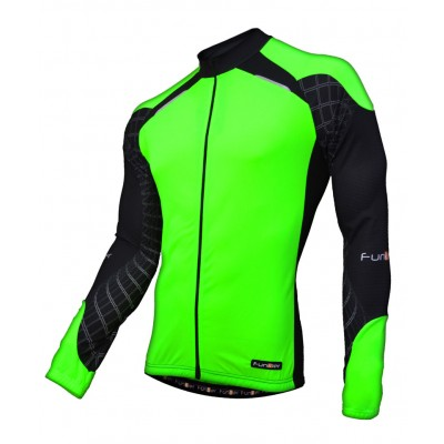 Funkier Force J-730-1-LW Gents Long Sleeve Jersey - Green/Black