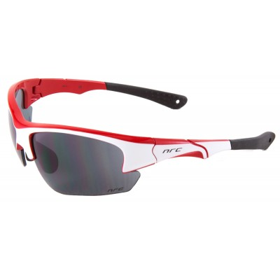 NRC Sport Line S4.WR cycle glasses - Gloss White/Shiny Red