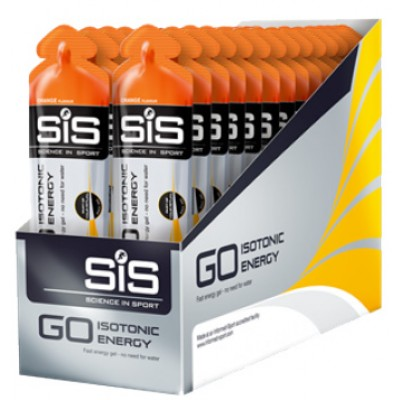 SIS Go Isotonic Gel - Box of 30 - Orange Flavour