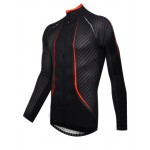 Funkier Airlite J-772-LW Carbon Mens Long Sleeve Jersey - Carbon/Red