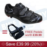 FLR F-117 Road Shoe & Pedal bundle - FREE PEDALS!