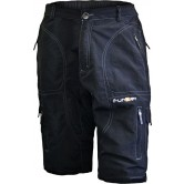 Funkier Berm B-3208 Gents MTB 3/4 Baggy Shorts in Black inc. Liner