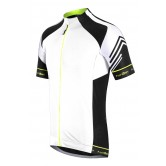 Funkier Hueza Gents Elite Short Sleeve Jersey - White / Black