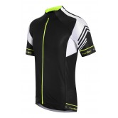 Funkier Hueza Gents Elite Short Sleeve Jersey - Black / White