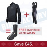 Funkier TPU Black Jacket + Bib tights + FREE Overshoes