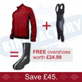 Funkier TPU Red Jacket + Bib tights + FREE Overshoes