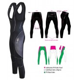 Funkier B-392-C4 Pro Winter Thermal TPU Waterproof-Fabric Men's Bib Tights - Black