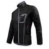 Funkier WJ-1317 Waterproof Rain Jacket - Black