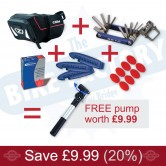 "MTB (26"") Saddle Pack & Accessories Bundle Deal - FREE PUMP"