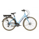 Raleigh Array Low Step Electric Bike - Denim