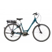 "Raleigh Captus Low Step 26"" Electric bike - Teal"