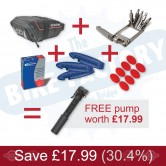 Road Saddle Pack & Accessories Bundle Deal - FREE PUMP