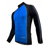 Funkier J-611-LW Mens Long Sleeve Top in Blue/Black