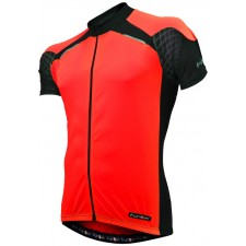 Funkier Force J-730-1 Mens Short Sleeve Jersey in Red/Black