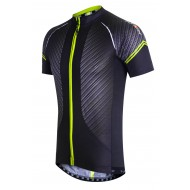 Funkier Airlite Gents Short Sleeve Jersey - Carbon/Yellow (J-791)