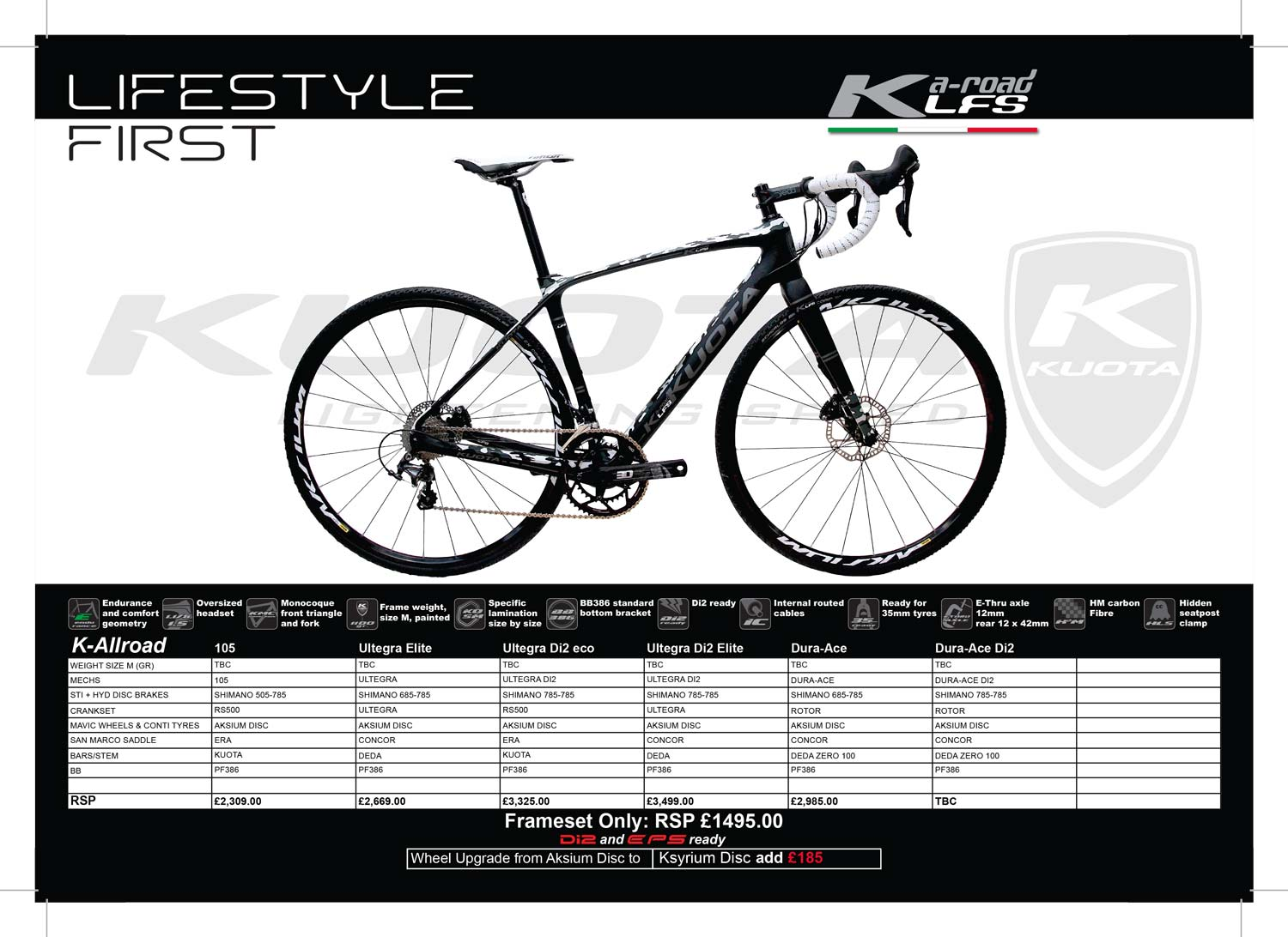 Kuota K-Allroad specs and prices