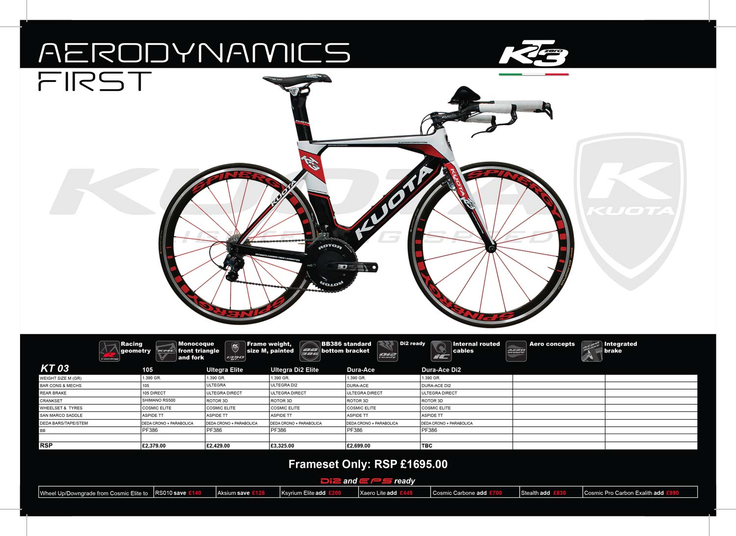 Kuota KT-03 specs and prices