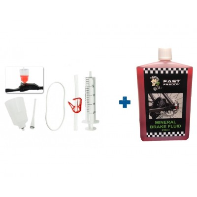 Fast Freddy Hydraulic Brake Bleed Kit - With Fast Freddy Mineral Oil