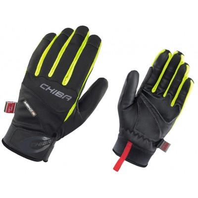 Chiba Tour Plus Windstopper Glove - Black / Neon Yellow