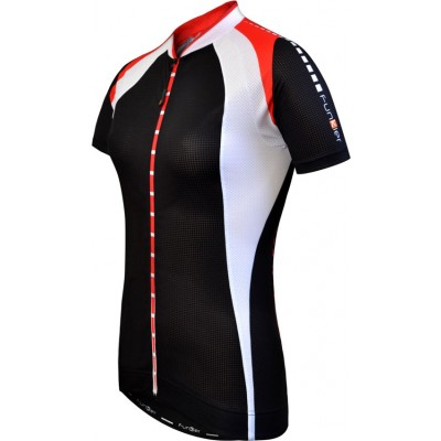 Funkier Vitesse J-780 Ladies Elite Short Sleeve Cycle Jersey in Black/White
