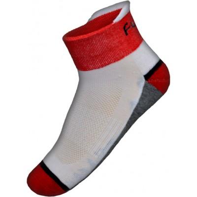 Funkier Gandia SK-26 Summer Socks in White/Red
