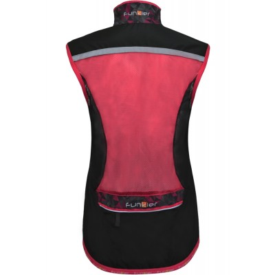 Funkier Cobina Ladies Windbreaker Gilet in Black/Pink