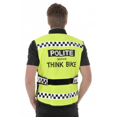 Polite notice - Hi Vis cycle waistcoat