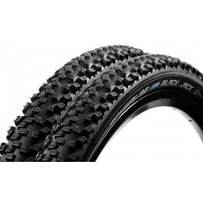 Schwalbe Black Jack MTB Knobbly Bike Tyres K-Guard - 26 x 2.0 - (Pair)