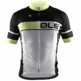 Ale Plus Cerro Men's Cycle Jersey - Yellow/White
