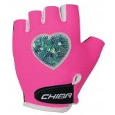 Chiba Girls Cycle Mitts - Sequin Heart - Pink