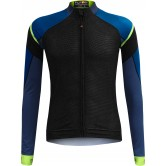Funkier Isparo Gents Elite Long Sleeve Jersey- (J-801-LW) - Black / Blue