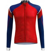 Funkier Isparo Gents Elite Long Sleeve Jersey- (J-801-LW) - Red / Blue