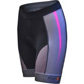 Funkier Aurora S-2768-C12 Active Ladies Cycling Shorts - Black Pink