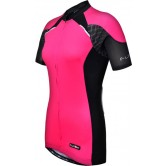 Funkier Odessa WJ-730-1 Ladies Pro Short Sleeve Cycle Jersey - Pink/Black