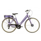 Raleigh Pioneer E Low Step 700c Electric Bike - Lilac