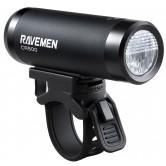 Ravemen CR500 USB Rechargeable DuaLens Front Light with Remote -  Matt/Gloss Black