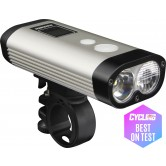 Ravemen PR900 USB Rechargeable DuaLens Front Light with Remote - Silver/Black