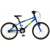 Squish 18 - Blue/Lime - Childs bike (Apx age 5+)