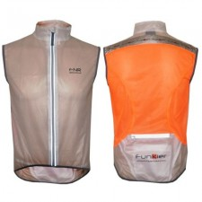 Funkier Evo WV-1504 / WV-1506 Windbreaker Gillet - Transparent/Orange