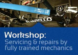 Workshop servicing and repairs at The Bike Factory